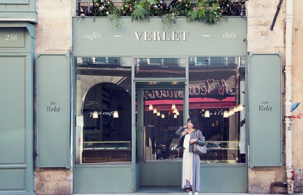 フラワー教室開業 ビジネスの仕組み作りとweb集客で売れるスクールへ 東京 世田谷 KOLME(コルメ)パリ研修2019 パリのカフェ cafe verlet(カフェヴェルレ)