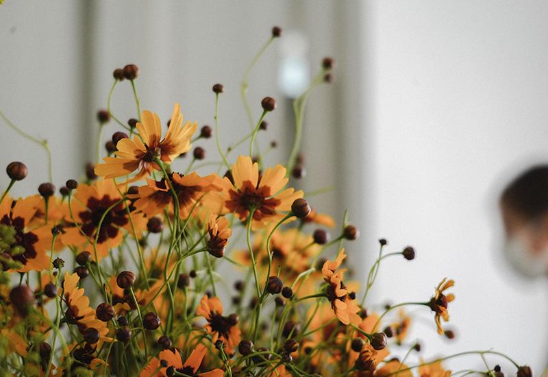 パリスタイルフラワー教室開業 ビジネスの仕組み作りとweb集客で売れるスクールへ 東京 世田谷 羽根木 KOLME(コルメ)黄色い花