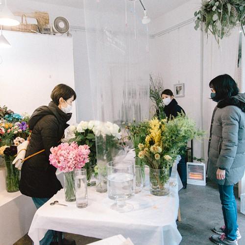 パリスタイルフラワー教室開業 ビジネスの仕組み作りとweb集客で売れるスクールへ 東京 世田谷 羽根木 KOLME(コルメ)バレンタインデーは花にメッセージを込めて KOLMEの1週間 21年2月②