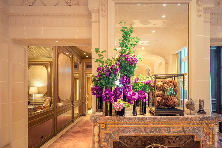 フラワー教室開業 ビジネスの仕組み作りとweb集客で売れるスクールへ 東京 世田谷 KOLME(コルメ)パリ研修2019 パリホテル装花 ホテルドゥクリヨン Hôtel de Crillon, A Rosewood Hotel