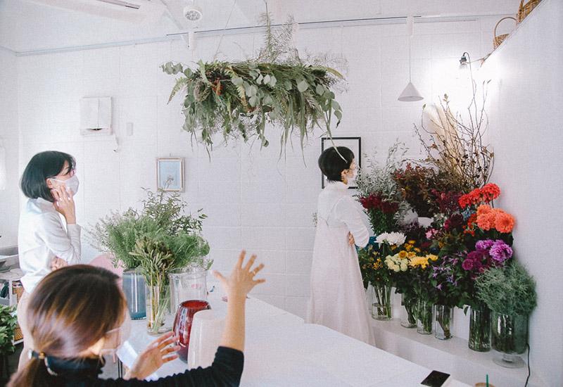 パリスタイルフラワー教室開業 ビジネスの仕組み作りとweb集客で売れるスクールへ 東京 世田谷 羽根木 KOLME(コルメ)ディプロマレッスンレポート2020年11月