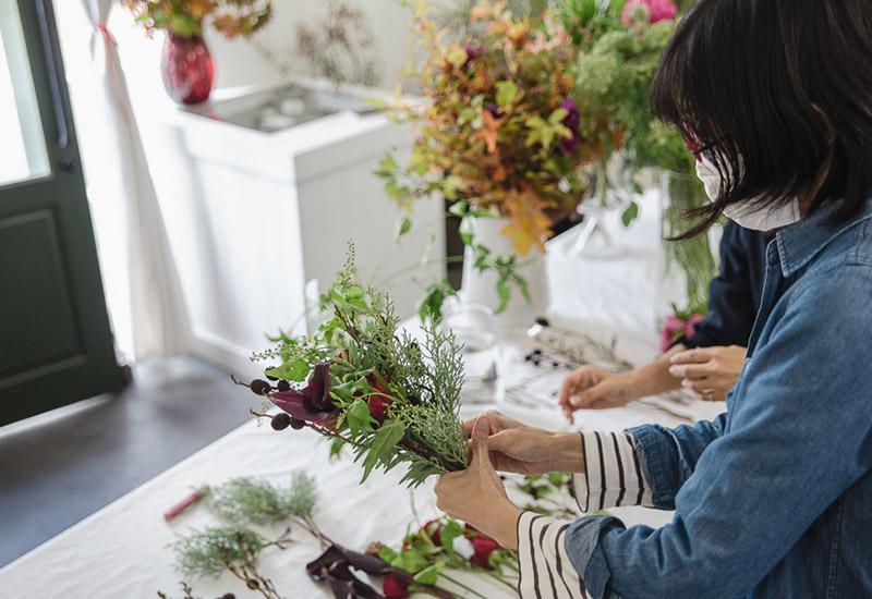 パリスタイルフラワー教室開業 ビジネスの仕組み作りとweb集客で売れるスクールへ 東京 世田谷 羽根木 KOLME(コルメ)ディプロマコースレッスン2020年10月