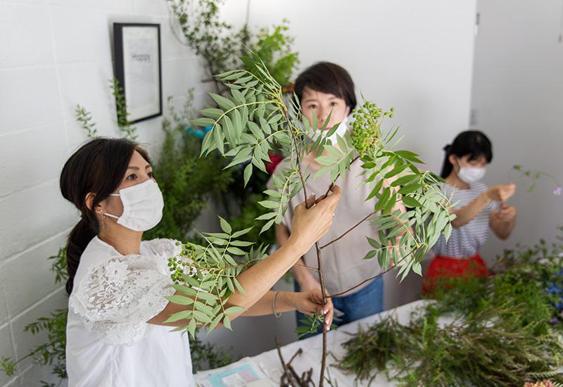 パリスタイルフラワー教室開業 ビジネスの仕組み作りとweb集客で売れるスクールへ 東京 世田谷 KOLME(コルメ)ディプロマコースレッスンレポート 2020年6月