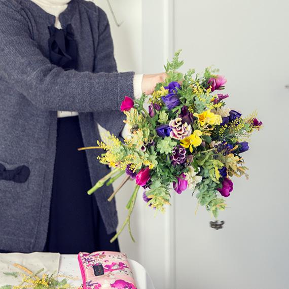 フラワー教室開業 ビジネスの仕組み作りとweb集客で売れるスクールへ 東京 世田谷 KOLME(コルメ)パリスタイルフラワー ディプロマコースレッスン 花材選び