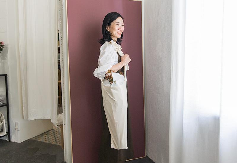 パリスタイルフラワー教室開業 ビジネスの仕組み作りとweb集客で売れるスクールへ 東京 世田谷 羽根木 KOLME(コルメ)ブーケバッグ 試作