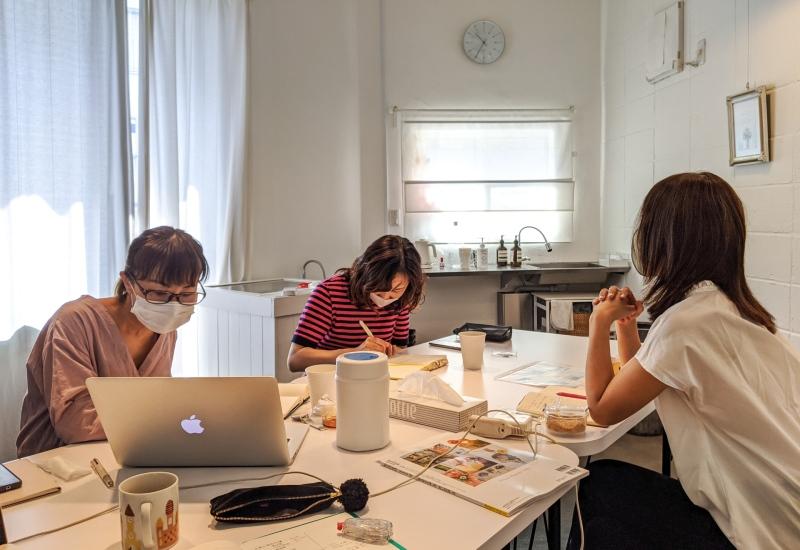 パリスタイルフラワー教室開業 ビジネスの仕組み作りとweb集客で売れるスクールへ 東京 世田谷 羽根木 KOLME(コルメ)フォローアップセッション2020年8月