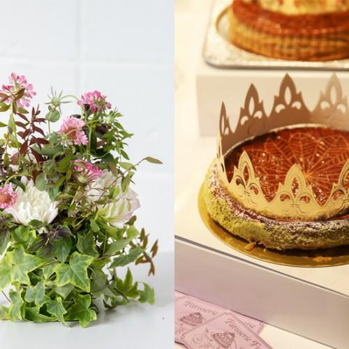 KOLME(コルメ)パリスタイルフラワーの投げ入れレッスン&ガレットデロワ食べ比べアフタヌーンティー
