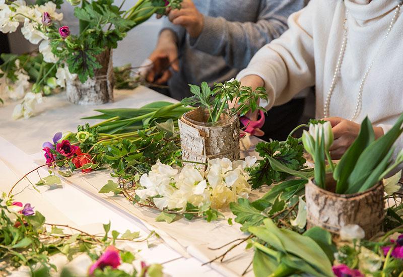 パリスタイルフラワーアトリエ KOLME(コルメ) 2020年 パリスタイルの投げ入れレッスン&ガレット・デ・ロワ食べ比べアフタヌーンティーレポート
