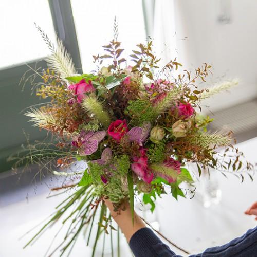 フラワー教室開業 ビジネスの仕組み作りとweb集客で売れるスクールへ 東京 世田谷 KOLME(コルメ)はじめてのパリスタイルフラワーアレンジメント「グリーンと花の調和」