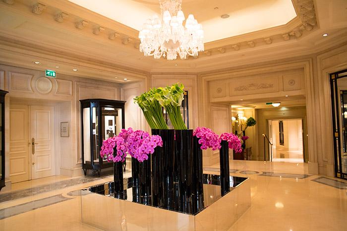 フォーシーズンズホテル・ジョルジュサンク装花 地階