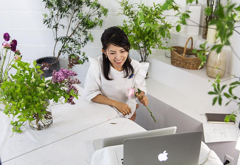 パリスタイルフラワー教室開業 ビジネスの仕組み作りとweb集客で売れるスクールへ 東京 世田谷 KOLME(コルメ)レギュラーレッスンレポート 2020年5月