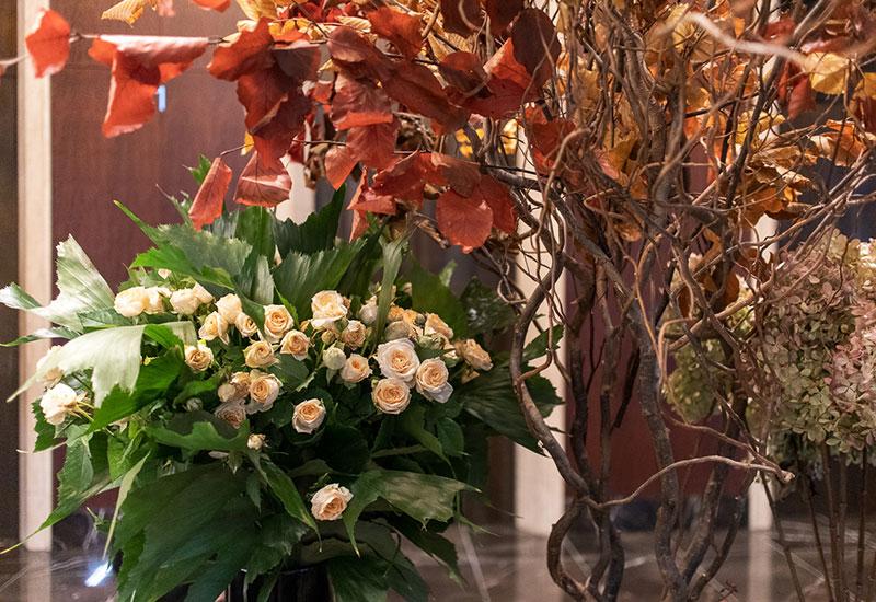 フラワー教室開業 ビジネスの仕組み作りとweb集客で売れるスクールへ 東京 世田谷 KOLME(コルメ)東京 花スポットめぐり シャングリラホテル 装花