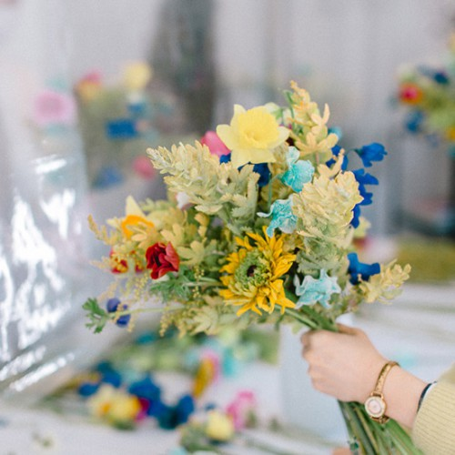 パリスタイルフラワー教室開業 ビジネスの仕組み作りとweb集客で売れるスクールへ 東京 世田谷 羽根木 KOLME(コルメ)カラーパレット・色で遊ぼう!2021年2月レギュラーレッスンレポート