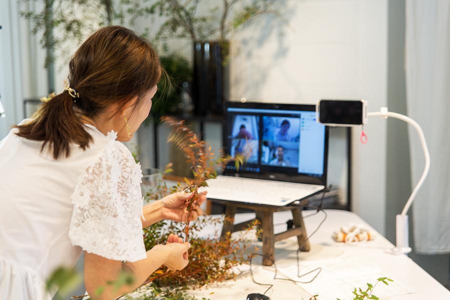 パリスタイルフラワー教室開業 ビジネスの仕組み作りとweb集客で売れるスクールへ 東京 世田谷 羽根木 KOLME(コルメ)レギュラーコースレッスン2020年9月