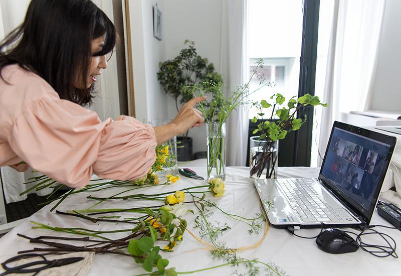 パリスタイルフラワー教室開業 ビジネスの仕組み作りとweb集客で売れるスクールへ 東京 世田谷 KOLME(コルメ)レギュラーレッスンレポート 2020年4月