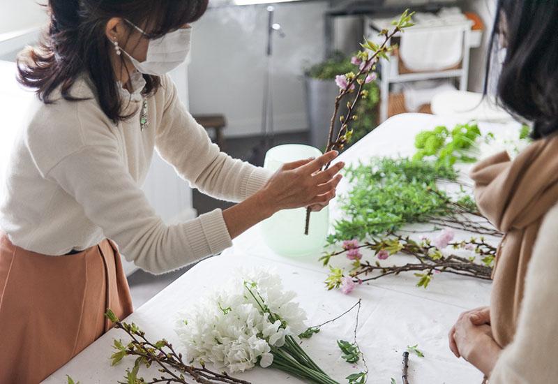 パリスタイルフラワー教室開業 ビジネスの仕組み作りとweb集客で売れるスクールへ 東京 世田谷 KOLME(コルメ)レギュラーコースレッスンレポート 2020年3月