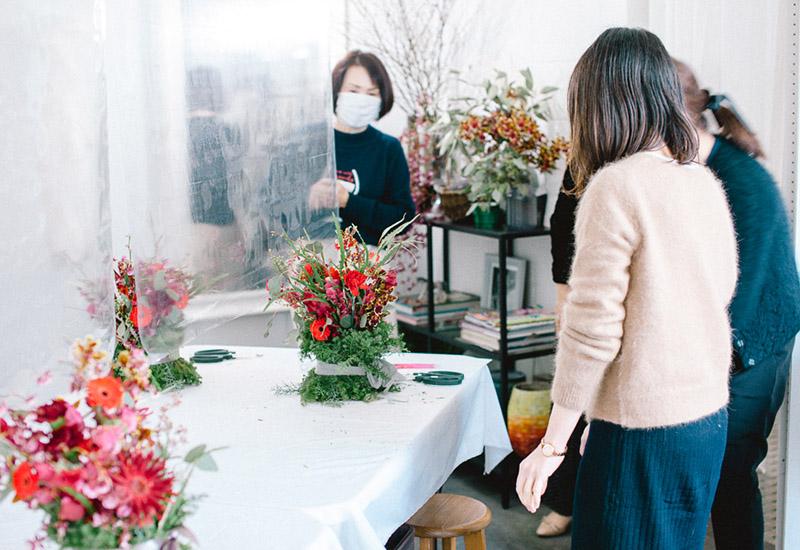 パリスタイルフラワー教室開業 ビジネスの仕組み作りとweb集客で売れるスクールへ 東京 世田谷 羽根木 KOLME(コルメ)レギュラーレッスンレポート2020年12月
