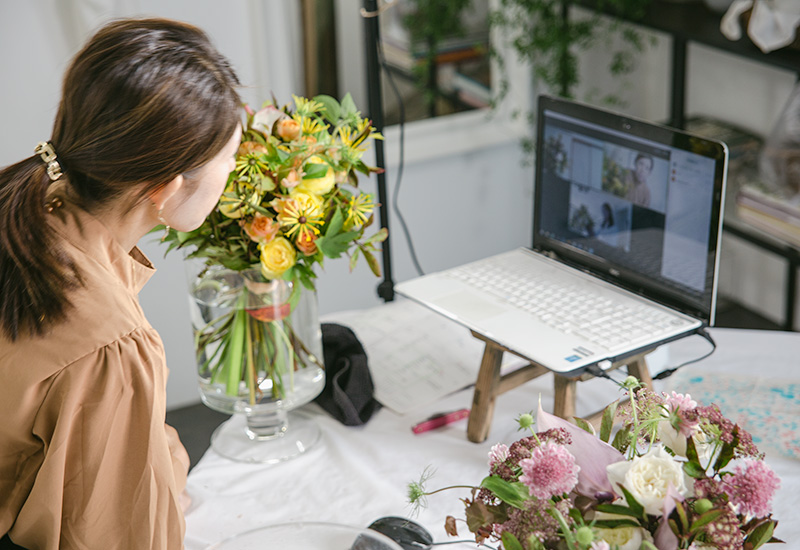 パリスタイルフラワー教室開業 ビジネスの仕組み作りとweb集客で売れるスクールへ 東京 世田谷 羽根木 KOLME(コルメ)レギュラーコースレッスン2020年10月