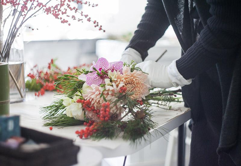 パリスタイルフラワー教室開業 ビジネスの仕組み作りとweb集客で売れるスクールへ 東京 世田谷 KOLME(コルメ)2019-2020年 正月用フラワーアレンジメント 正月花 販売
