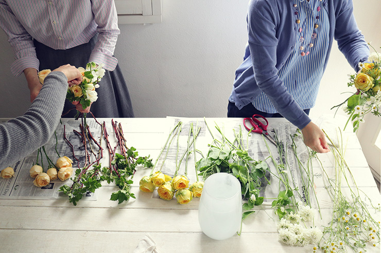フラワー教室開業 ビジネスの仕組み作りとweb集客で売れるスクールへ 東京 世田谷 KOLME(コルメ)パリスタイルフラワー KOLME創業祭 花選びからはじめるブーケ作りワークショップ