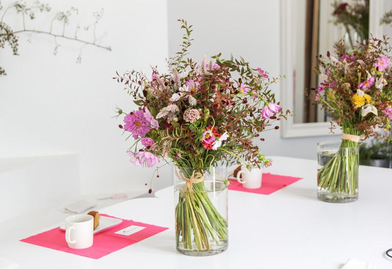 パリスタイルフラワー教室開業 ビジネスの仕組み作りとweb集客で売れるスクールへ 東京 世田谷 羽根木 KOLME(コルメ)ブーケにぴったりの花器選び