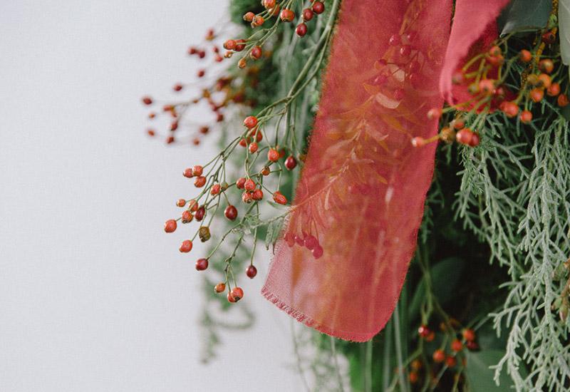 パリスタイルフラワー教室開業 ビジネスの仕組み作りとweb集客で売れるスクールへ 東京 世田谷 羽根木 KOLME(コルメ)スワッグ試作 クリスマスレッスン2020