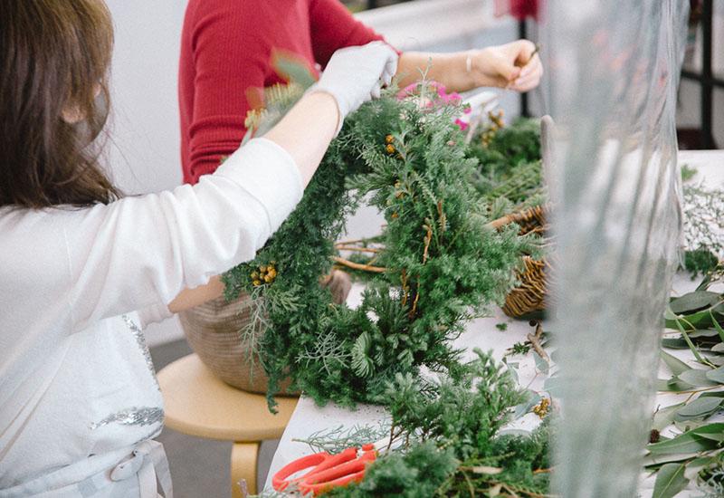 パリスタイルフラワー教室開業 ビジネスの仕組み作りとweb集客で売れるスクールへ 東京 世田谷 羽根木 KOLME(コルメ)クリスマスレッスンレポート2020年